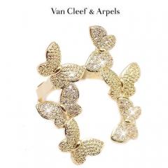 Кольцо Бабочки в стиле Van Cleef золотое