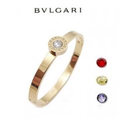 Браслет Булгари со сменными камнями золотой