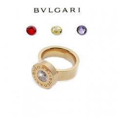 Кольцо Булгари со сменными камнями золотое