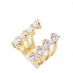 Кольцо с камнями золотое