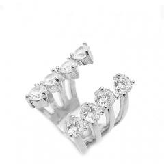 Кольцо с камнями серебряное