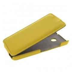 Чехол книжка для Nokia Lumia 630 желтый