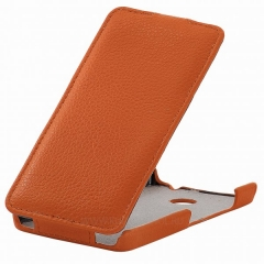 Чехол книжка для Nokia Lumia 630 оранжевый