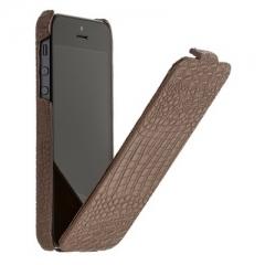 Чехол книжка Borofone для iPhone 5 коричневый
