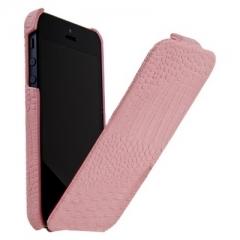 Чехол книжка Borofone для iPhone 5 розовый