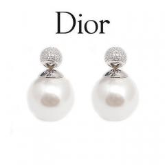 Серьги Mise En Dior жемчужные со стразами 925