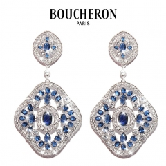 Серьги Boucheron синие