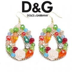 Серьги в стиле D&G разноцветные
