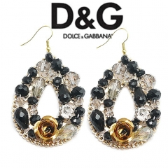 Серьги в стиле D&G черные