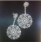 Серебряные серьги с цирконами