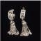 Серебряные серьги кисточки