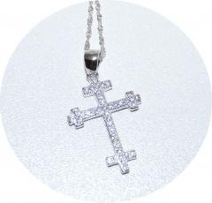 Кулон серебряный Крест