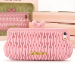 Чехол MiuMiu для iPhone 5S розовый