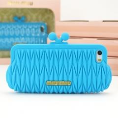 Чехол MiuMiu для iPhone 5S голубой
