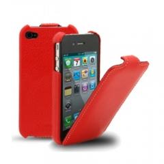 Чехол-книжка Melkco для iPhone 4 красный
