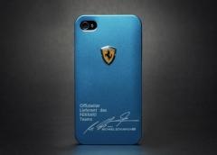 Чехол Ferrari для iPhone 4 голубой