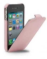 Чехол - книжка Melkco для iPhone 4S розовый