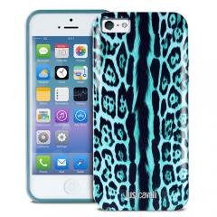 Чехол Just Cavalli для Galaxy S4  леопард бирюзовый