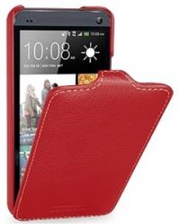 Чехол книжка для HTC One M8 красный