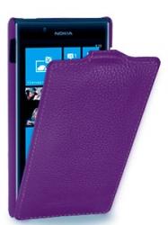 Чехол книжка для HTC One M8 фиолетовый