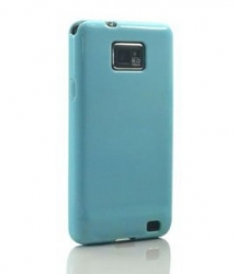 Чехол накладка Ultra-thin Original Plastic Case для Samsung Galaxy S 2, голубой