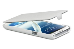 Чехол-книжка Leather Case для Samsung Galaxy Note 2, белый