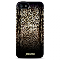 Чехол силиконовый Just Cavalli для iPhone 5 Леопард черный