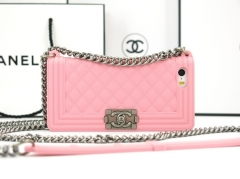 Чехол Chanel Boy для iPhone 4S розовый