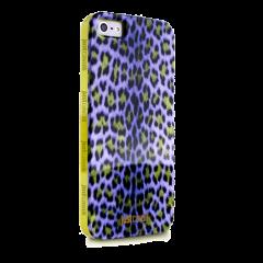 Чехол силиконовый Just Cavalli для iPhone 5S Леопард фиолетовый