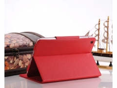 Чехол Leather Case для Ipad Mini красный
