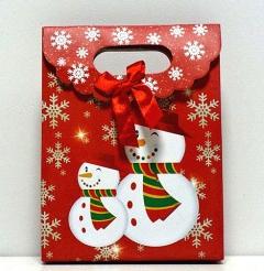 Пакетик подарочный Новогодний маленький