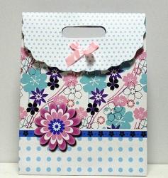 Пакетик подарочный с Цветочками большой