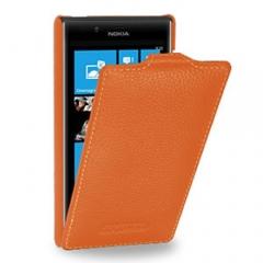 Чехол книжка для Nokia Lumia 820 оранжевый
