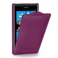 Чехол книжка для Nokia Lumia 820 фиолетовый