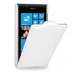 Чехол книжка для Nokia Lumia 925 белый