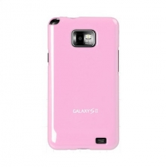 Чехол накладка Ultra-thin Original Plastic Case для Samsung Galaxy S 2, розовый
