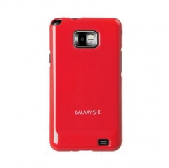 Чехол накладка Ultra-thin Original Plastic Case для Samsung Galaxy S 2, красный