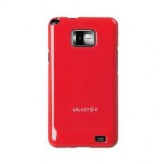 Чехол накладка Ultra-thin Original Plastic Case для Samsung Galaxy S 2, красный