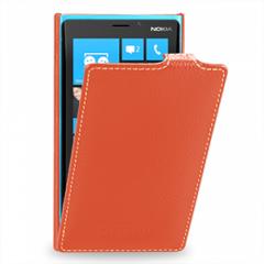 Чехол книжка для Nokia Lumia 920 оранжевый