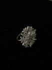 Серебряное кольцо снежинка