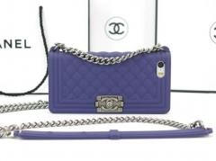 Чехол Chanel Boy для iPhone 5 фиолетовый