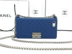 Чехол Chanel Boy для iPhone 4S синий