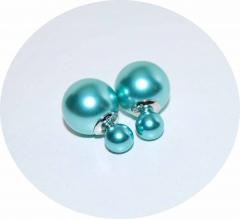 Серьги Dior цвет морской волны жемчужные 925