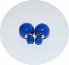 Серьги Dior темно синие 925