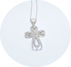 Серебряный кулон Крест
