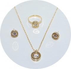 Комплект Bvlgari золотой