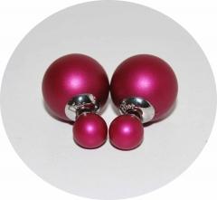 Серьги Mise En Dior темно малиновые