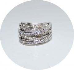 Кольцо Де Грисогоно серебряное