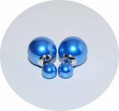 Серьги Mise En Dior синий перламутр 925