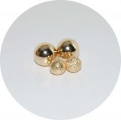 Пусеты шарики Dior золотые